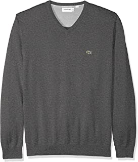Mens Long Sleeve Half Moon V Neck Jersey Sweater