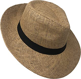 Chapeau Tribe Toyo Tribly with Lining & Black Grossgrain Band (Brown)