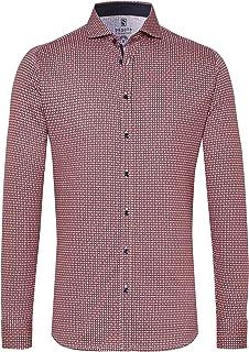 DESOTO Camisa de manga larga para hombre con cuello de tiburón, sin planchado, 43207-3