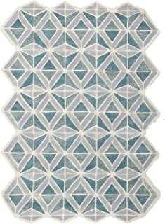 Now House by Jonathan Adler Facet Collection Area Rug, 5' x 7', Blue