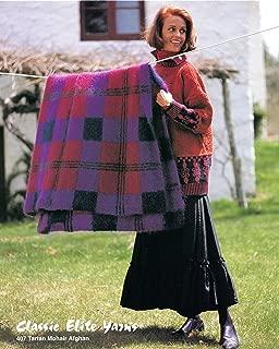 Classic Elite Yarns Knitting Pattern Leaflet #407 Tartan Mohair Afghan, Easy Knit