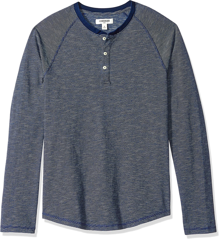 Brand Goodthreads Mens Long-Sleeve Indigo Henley