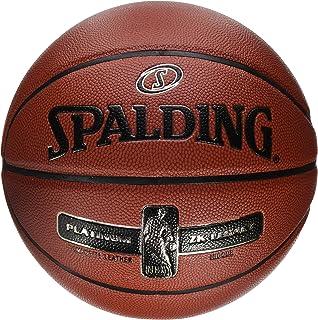 SPALDING 中性款 NBA 铂金 ZK 传统篮球,橙色,尺码7.0