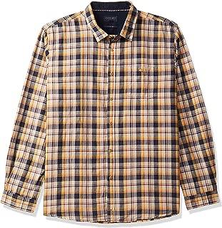 CHEROKEE Men's Checkered Regular fit Casual Shirt (400018070642_Beige M)