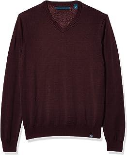 Perry Ellis Men's End Feeder Stripe Long Sleeve Sweater