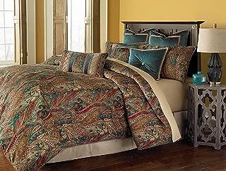 Michael Amini BCS-QS09-SEVILE-HNY Seville 9pc Queen Comforter Set Honey,