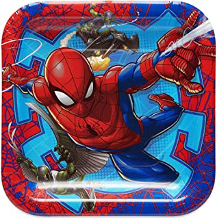American Greetings Spiderman 2 Party Supplies, Disposable Paper Dessert Plates, 8-Count