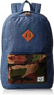 Herschel Unisex' Heritage Backpack, Navy Crosshatch/Woodland Camo