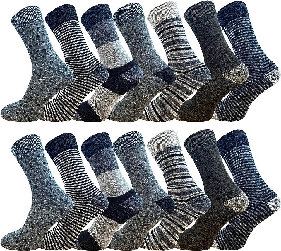 14PK Mens FCO Design Ankle Socks