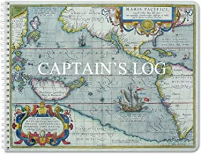 BookFactory Captain's Log Book/Boat Log Book/Ship's Log Book/Nautical Log Book - 100 Pages, Full Color Cover with Translux Protection, 11