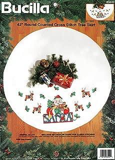 Bucilla - Armful of Joy - Counted Cross Stitch Tree Skirt Kit 83242