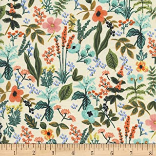 Cotton + Steel Rifle Paper Co Amalfi Herb Garden Natural Fabric by The Yard