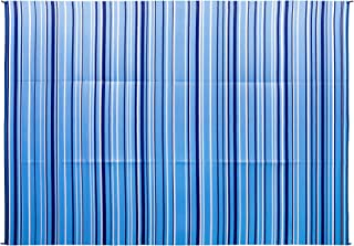 Camco Blue and White Striped Large Reversible Outdoor Patio Mat-Mold and Mildew Resistant, Easy to Clean, Perfect for Picnics, Cookouts, Camping, and The Beach (9' x 12', Design) (42865)