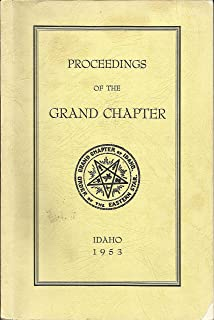 Proceedings of the Grand Chapter of Idaho, Order of the Eastern Star 1953