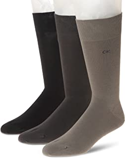 Calvin Klein Men's Flat Knit Crew Socks (3 Pair)