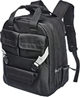 Amazon Basics Durable, Padded Tool Bag Backpack, Black - 51 Pocket with Adjustable Pouch Front