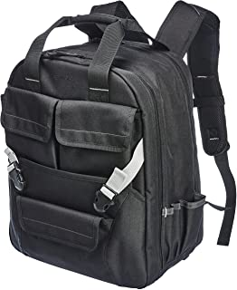 AmazonBasics Tool Bag Backpack, 51 Pocket with Adjustable Pouch Front, ZH1708069R1H, Black