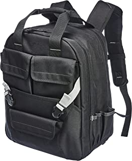 AmazonBasics Durable, Padded Tool Bag Backpack, Black – 51 Pocket with Adjustable Pouch Front