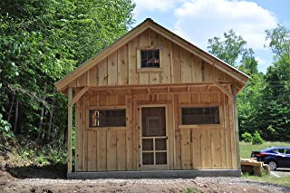 Timber Frame Post and Beam Cabin - Vermont Cottage Option C with Storage Loft - Step-By-Step DIY Plans