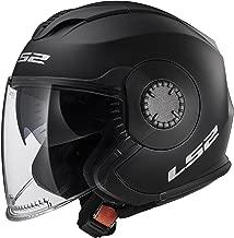 LS2 Helmets Verso Unisex-Adult Open-Face-Helmet-Style Verso Open Face Helmet (Matt Black, X-Large) (570-1015)