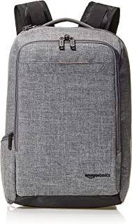 AmazonBasics Slim Carry On Travel Backpack Overnight, Grey