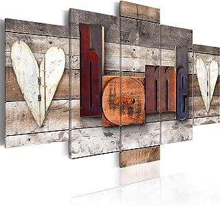 murando - Cuadro en Lienzo Home 200x100 cm Impresión de 5 Piezas Material Tejido no Tejido Impresión Artística Imagen Gráfica Decoracion de Pared Tablas m-C-0252-b-m