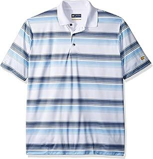 Men's Short Sleeve Printed Birdseye Stripe