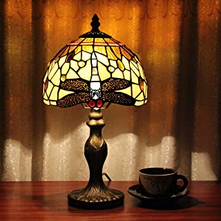 TOYM 8 inch European retro luxury handmade Tiffany lamps restaurant specialties brown decorative lighting table lamp
