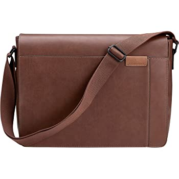 "Art On Leather 13/""Genuine Brown Leather Satchel Laptop Unisex Shoulder bag Use Daily"