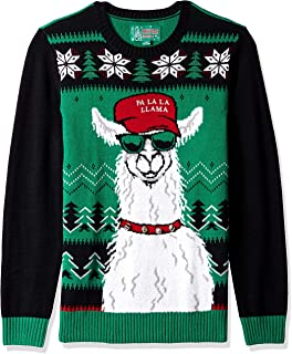 Christmas Ugly Sweater Co Men's Ugly Christmas Sweater-Xmas Llama