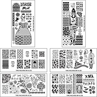 Maniology (formerly bmc) 6pc Super Cute Historically Themed XL Nail Polish Art Stamping Plates: Time Machine Master Set