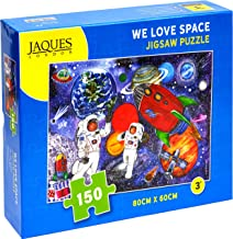 Jaques of London WE LOVE SPACE jigsaw puzzle for kids – 150 piece Jigsaw puzzle for children – recommended puzzle for 5 6 7 8 year olds -
