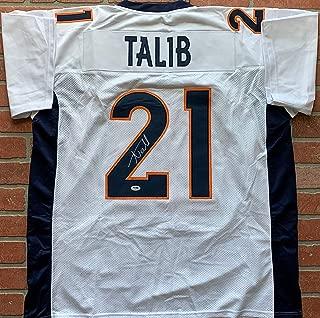 Aqib Talib autographed signed jersey NFL Denver Broncos PSA