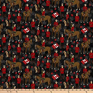 canadian flag cotton fabric