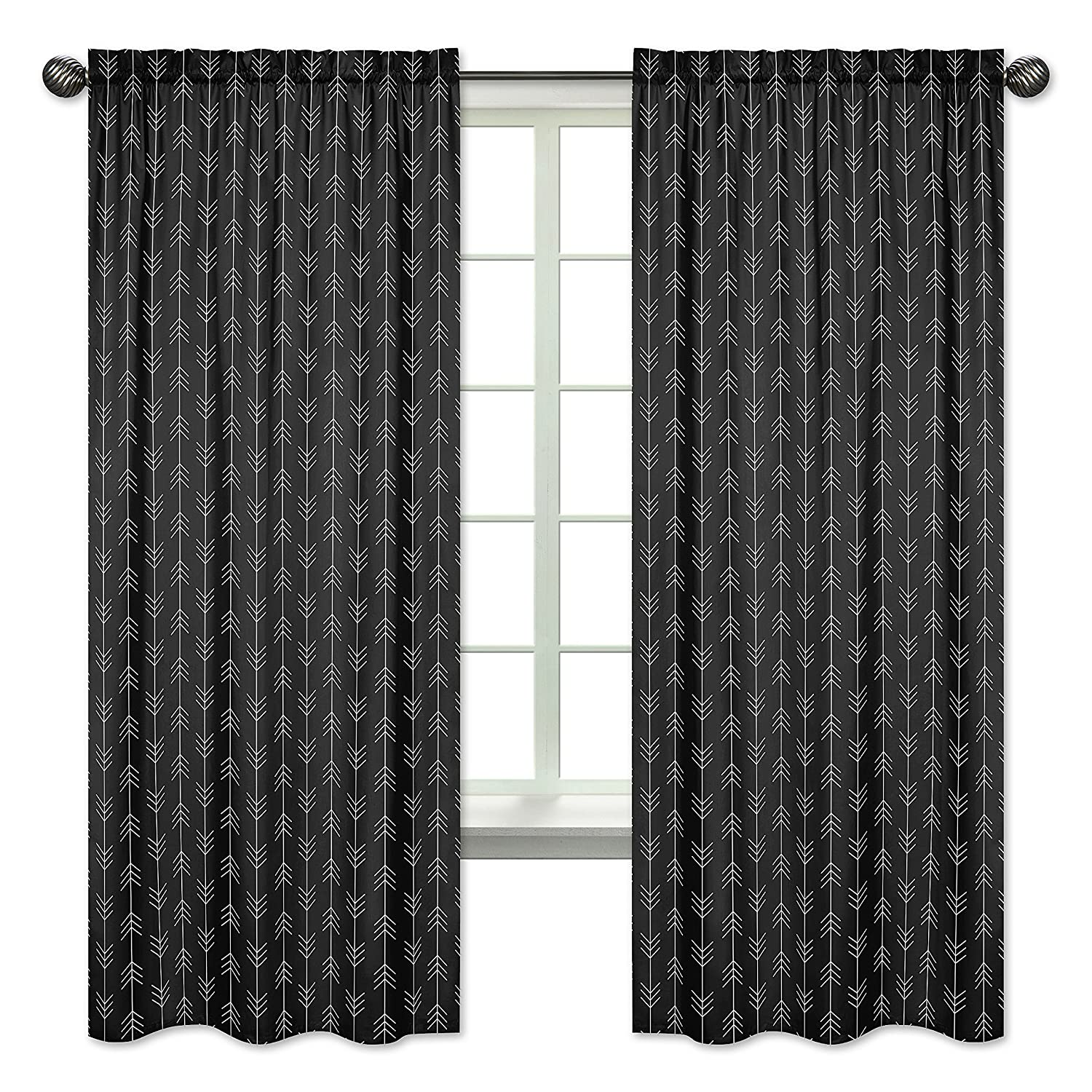 Black Ranking TOP10 and White Woodland Arrow Window Treatment Beauty products Curtains Panels