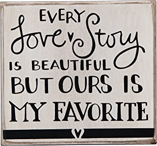 Primitives by Kathy Hand-Lettered Box Sign, Every Love Story