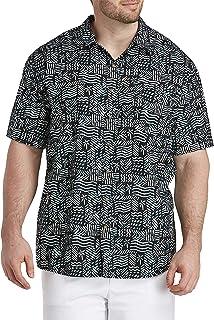 Oak Hill by DXL Big and Tall Batik Pocket Sport Shirt, Black
