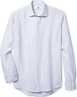 Amazon Brand - Buttoned Down Men's Slim Fit Casual Linen Cotton Shirt