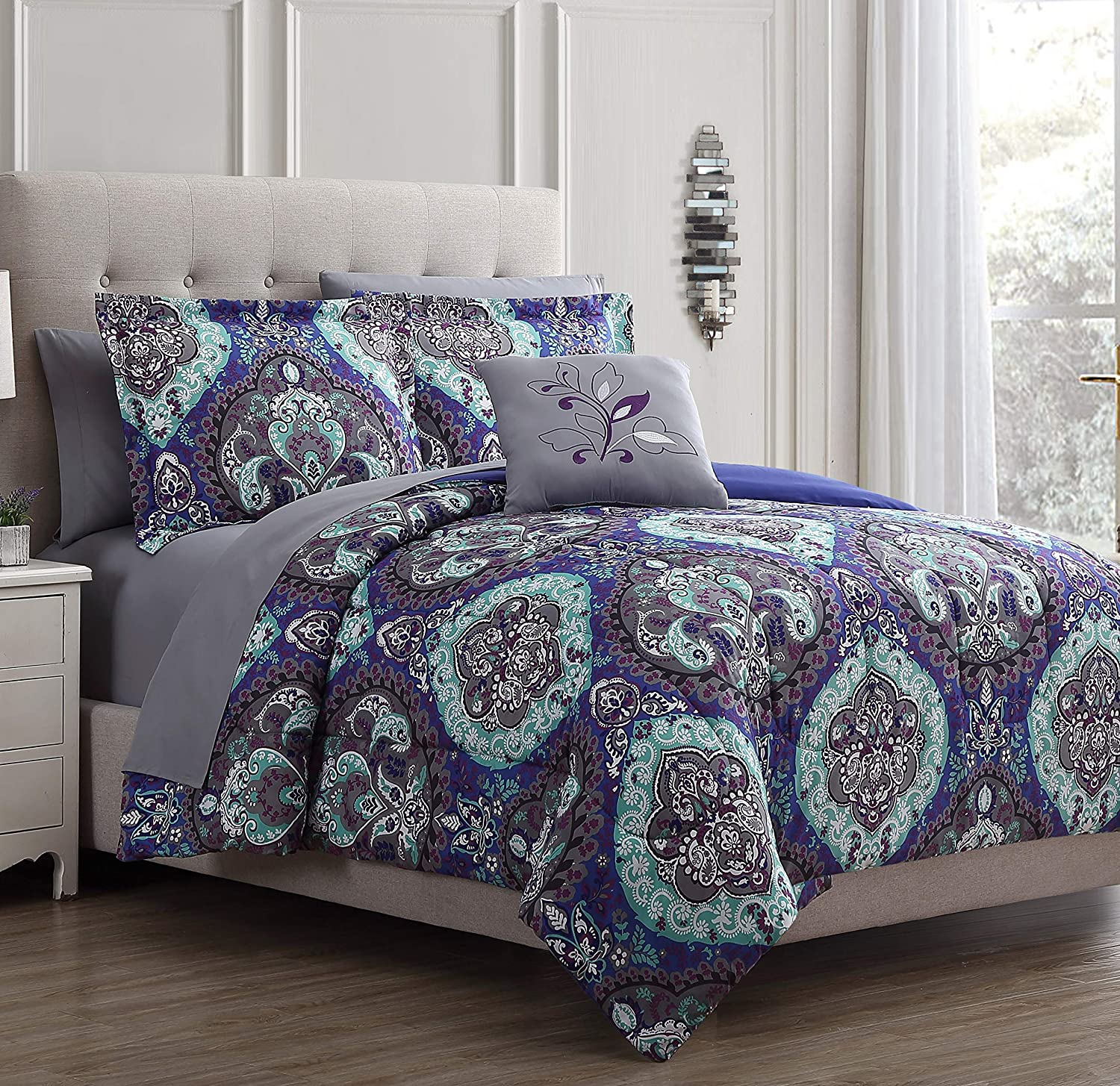 Ranking TOP19 Modern Threads Cathedral 8-Piece Printed Bed Reversible in Bag Price reduction A