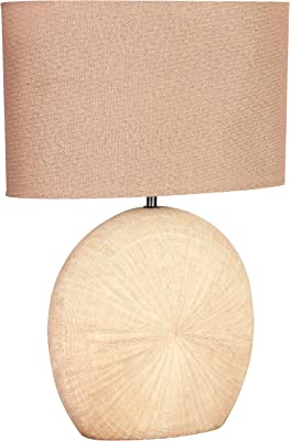 WOFI 845601236100 Lampe de Table, Céramique, E27, 60 W, Marron, 37 x 28 x 53 cm