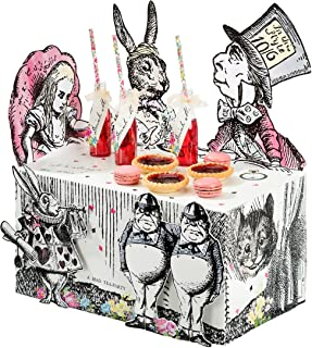 Talking Tables Alice In Wonderland Party Supplies   Table Centrepiece   Great For Mad Hatter Tea Party, Birthday Party And Baby Shower   Paper