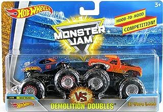 Hot Wheels Monster Jam 1:64 Demolition Doubles 2018 Team Hot Wheels 50th Anniversary New Truck vs El Toro Loco (Orange)