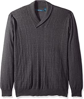 Perry Ellis Men s Big and Tall Cable Knit Shawl Collar Sweater a6b98430f