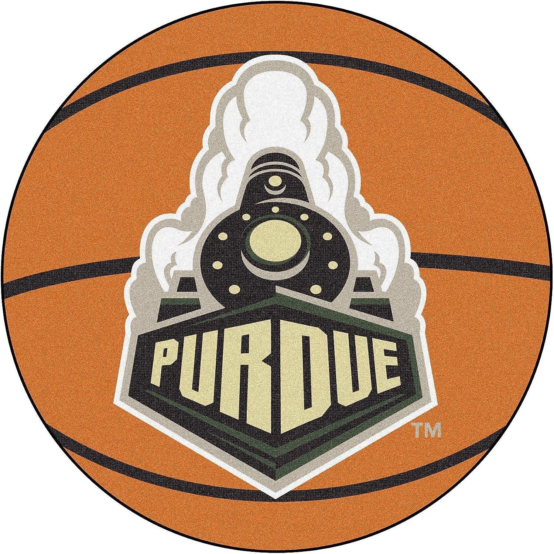 Purdue Boilermakers 29  Round Basketball Floor Mat (Rug)