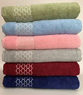 B EVENT% 100 Cotton Bathroom Towels – Soft Textured Absorbent Large Towels For Bathroom, Spa, Gym 100 cm x 150 cm (Pink)