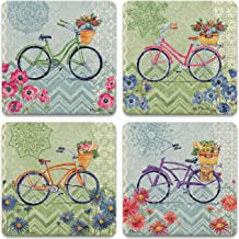 CoasterStone AS10064 Blossoming Cruiser Absorbent Coasters, 4-1/4-Inch, Set of 4