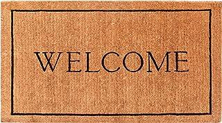 "Calloway Mills AZ104813672 Welcome Border, 100% Coir Doormat, 3' x 6' x 1.50"", Natural/Black"