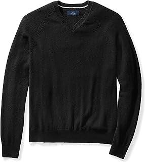 Amazon Brand - BUTTONED DOWN Men`s Cashmere V-Neck Sweater