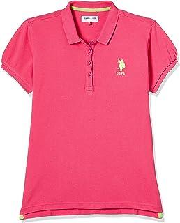 US Polo Assn. Girl's Plain T-Shirt