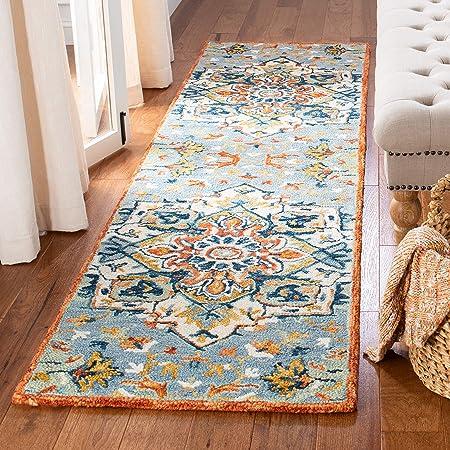 Amazon Com Safavieh Aspen Collection Apn312a Handmade Boho Wool Runner 2 3 X 7 Blue Rust Furniture Decor